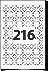 13-mm-Diameter-216-Round-Label-per-A4-Sheet