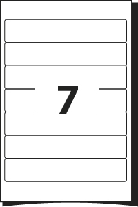 Printing template for labels 200 mm x 38 mm 7 for Word label template 16 per sheet a4