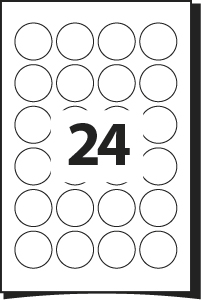 photo relating to Round Printable Labels identified as Printing Template for Labels 40 mm Diameter 24 Spherical