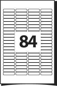 template for labels 14 per sheet - printing template for labels 46 mm x 11 1 mm 84